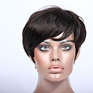 Röviden emberi haj 2 # feldolgozatlan szűz brazil glueless sem csipke géppel készült emberi haj paróka
