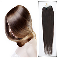 Grade 5A 1Pc/Lot 16Inch/40cm Multicolors Straight Micro Ring Hair Extensions Human Hair Weaves 100s/Pack 0.4G/s