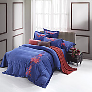 Sets Funda Nórdica - H&C® - Rojo/Multicolor/Azul Oscuro - de Algodón/Modal/Tencel