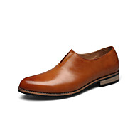 Men's Shoes Wedding/Casual/Party & Evening Leather Loafers Black/Yellow