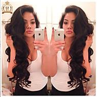 """10 """"26"""" glueless volle Spitzeperücke der Welle Körper brasilianisches reines Haar Farbe # 1B natürliche schwarze Babyhaar für schwarze"""