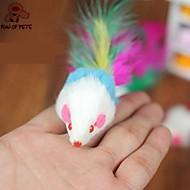 Zabawka dla kota Zabawki dla zwierząt Wędki dla Kota Zabawka z piórkami Myszka Tekstylny