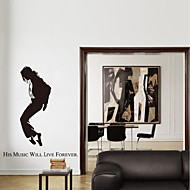 Wall Stickers Wall Decals Style Michael Jackson Classic Action PVC Wall Stickers
