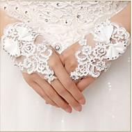 Até o Pulso Sem Dedos Luva Renda Luvas de Noiva Luvas de Festa Primavera Verão Outono