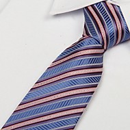 Business Casual Polyester Yarn Striped Men Neckie Tie