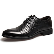 Men's Shoes Casual/Party & Evening/Office & Career Fashion Breathable Leather Shoes Black/Brown 38-44