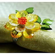 kristalli kukka koristelu lautasliinarengas, akryyli, 1.77inch, sarja 12