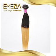 Good Cheap Temple Indian Virgin Human Hair Silk Straight Ombre Hair Extensions 2 Tone 1B/27 Color 1PCS Only  8''-30''