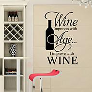 מילות באנגלית יין חדש בסגנון מדבקות קיר מדבקות קיר&מצטט קיר PVC מדבקות