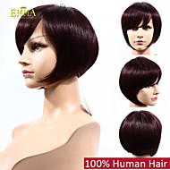 흑인 여성 99j 버건디 컬러 아프리카 계 미국인 가발 100 % 인간의 머리 밥 가발