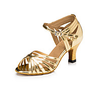 Na zakázku Dámské Taneční boty Latina Koženka Jehlový podpatek Stříbrná