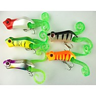 5 PCS Hard Bait Popper 55MM 10.2G Sinking Fishing Lure (Color Assorted)