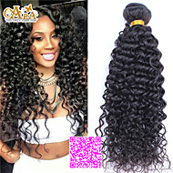 3pcs Lot 5A Unprocessed Malaysian Virgin Hair Curly  Human Hair Extensions Natural Black Hair Weaves
