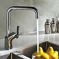 Contemporary  Chrome Brass Hot and Cold Single Handle Kitchen Faucets
