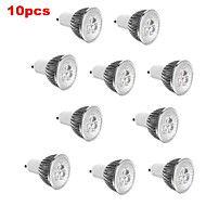 10pcs  3W GU10/GU5.3/E27/E14 350LM Light LED Spot Lights(90-260V)