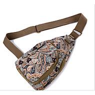 kvinders nylon slynge taske Skuldertaske - lilla / blå / brun
