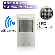 Wireless WIFI Night Vision Ip Camera 48pcs 940nm Led Network Camera PIR Hidden Built in Microphone 1080P\960P\720P