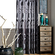 One Panel Jacquard Flower  Velvet  Curtain Two Color Curtain Drape