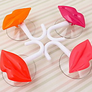 "Lip Design Multifunctional Decorative Hook,W5.6""xL6.4,Set of 2,Random Color"