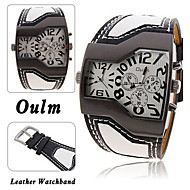 Men's Pocket Watch Sport Watch Quartz Leather Band Black White Blue Red Yellow
