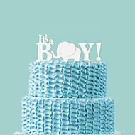 Buchstabe & Nummer ( Weiß , Acryl ) - Nicht-personalisierte - Babyparty