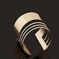 Simple Style  Open Alloy Bangle Bracelet(Gold)(1Pc)