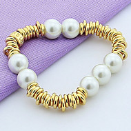 Women's Alloy Persona Beads Collection With Imitation Pearl Bracelet