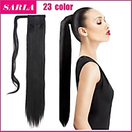 """24"""" Long Straight Wrap Around Ponytail Extension High Quality Hairpiece Multicolor Heat-friendly Fiber"""