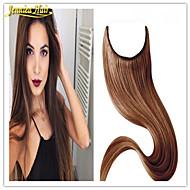 הארכת שיער אדם 8 א הכיתה איכותי שיער אירופאי להעיף שיער רמי אמיתי בתוספות שיער שיער ישר בתולה