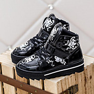 Baby Shoes Outdoor/Casual Faux Leather Fashion Sneakers Black/Pink/White