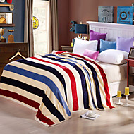 Stripe Fashion High-end Green Environmental Protection Printing And Dyeing Method, Wool Blanket Full Size