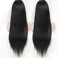 pitkä silkkinen suora täynnä pitsiä hiuksista peruukit brasilialainen Nyörilliset peruukit halvalla ihmisen peruukit