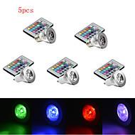 3W E14 / GU10 / E26/E27 Luz de LED para Cenários MR16 1 LED de Alta Potência 250 lm RGB Regulável / Controle Remoto / Decorativa AC 85-265