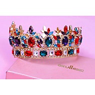 Women's Crystal / Alloy Headpiece-Wedding / Special Occasion Tiaras 1 Piece Purple / Blue / Red / Fuchsia Triangle