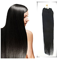 Grade 5A 1Pc/Lot 18Inch/45cm Multicolors Straight Micro Ring Hair Extensions Human Hair Weaves 100s/Pack 0.8G/s