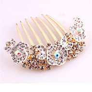 Luxury Style Flower Alloy Hot Sale Hair Comb(Randon Color)(1Pc)