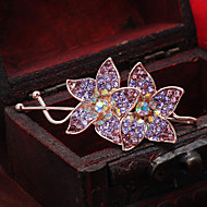 Women's Rhinestone/Alloy Headpiece - Special Occasion/Casual Flower Hair Pin 1 Piece