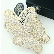 Korean Rhinestone Pierced Butterfly Hairpin