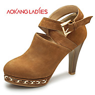 Aokang Women's Shoes Leather/Suede Stiletto Heel Heels/Comfort/Pointed Toe/Closed Toe HeelsWedding/Outdoor/Office