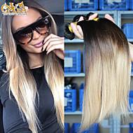 3pcs / lot14 '' - 26 '' eurasiske jomfru hår human hair extensions silke rette 3tones 1b / 4/27 ombre hår veve
