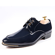 Men's Shoes Wedding/Office & Career/Party & Evening Patent Leather/Glitter Oxfords Black/Blue