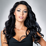 Long Wet Wavy Human Hair 10''-26'' Celebrity Hairstyles Wavy Lace Front Wigs For Women
