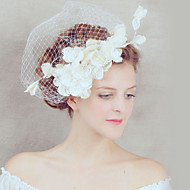 2015Women's Lace/Tulle Headpiece - Wedding/Special Occasion Birdcage Veils 1 PieceHA5109