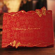 כרטיסי הזמנה הזמנות לחתונה משולש מותאם אישית 30 יחידה / סט