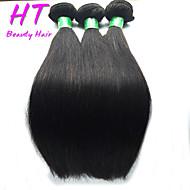 """3pcs / lot 8 """"-30"""" mezcla de colores tamaño # 1b indio del pelo recto virginal del pelo humano extensiones paquetes"""