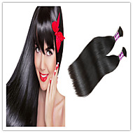 3Pcs/Lot 100% Virgin Peruvian Hair Bulk 14-32Inch Natural Straight Human Braiding Hair Bulk Dyeable Wholesable
