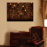e-Home® sträckta ledde kanfastryck konst bokhylla ledde blinkande optisk fiber print
