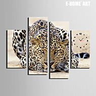 E-HOME® Cheetah Clock in Canvas 4pcs