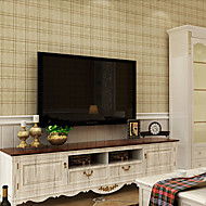 New Rainbow™ Wallpaper Square Grid Stripe Stripe Wall Covering , Stripe Non-woven Paper