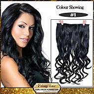 5 klipy zprohýbané lampové saze (# 1) umělých vlasů klip na prodlužování vlasů pro ženy více dostupných barev